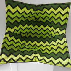 Microwaveable Bowl - Black and Green Chevron / Set of all three sizes