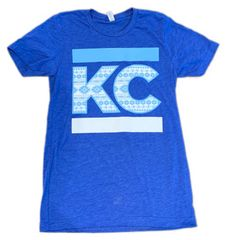 Aztec KC Unisex Super Soft Royal Blue Crew Tee