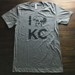 I Puppy KC Unisex Super Soft Gray Crew Tee