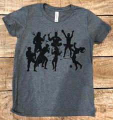 Youth Lets Band Together Super Soft Gray Triblend Crew