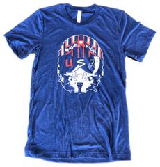 USA Maverick Unisex Super Soft Navy Crew Triblend Tee