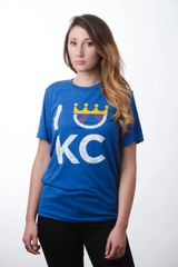 KC Flavor Unisex Super Soft Blue Crew Tee