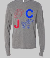 RC JC Gray Unisex Super Soft Long Sleeve Hoodie T
