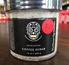 The coffee grounds in this scrub will energize and exfoliate, available in scent - natural coffee fragrance only 13oz.