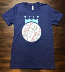 Baseball KC Unisex Super Soft Navy Triblend Crew Tee