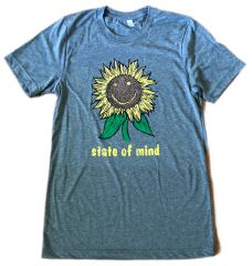 Sunflower state of mind Gray Triblend Unisex Super Soft Crew Tee