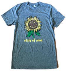 Sunflower state of mind Gray Triblend Unisex Super Soft Crew Tee