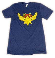 KC Marvel Unisex Super Soft Navy Crew Triblend Tee