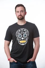 KC Sugar Skull Unisex Super Soft Crew Tee Charcoal Black
