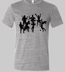 Lets Band Together Super Soft Gray Triblend Crew