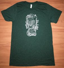 KC Skyline Overflow Unisex Super Soft Emerald Green Crew Tee