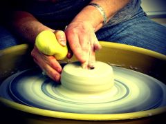 Throwing on the Potter's Wheel 1 & 2, Wednesdays, 4/10-5/15, 6-9 pm (6 sessions)
