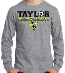 Taylor Yellow Jackets Grey Long Sleeve cotton