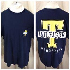 ce5c9566e Vintage 90's Tommy Hilfiger Hip-Hop Streetwear (Large) Retro Graphic T-Shirt