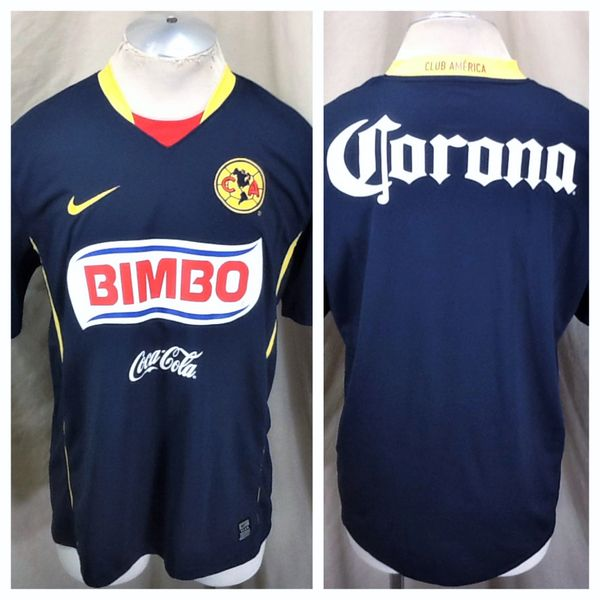 4d0bc1077fe Nike Dri-Fit CA Club America Futbol (Large) Retro Graphic Pullover Soccer  Jersey | Our City Vintage