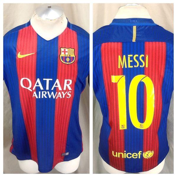 f76256cb6 Authentic 2016 Nike Barcelona Futbol Club (Large) Lionel Messi  10 Dri-Fit  Soccer Jersey