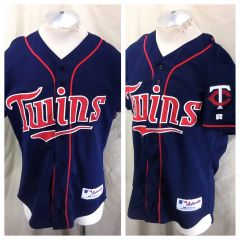 f6790c26f Vintage Russell Athletic Minnesota Twins (44/Large) Retro MLB Baseball Button  Up Jersey