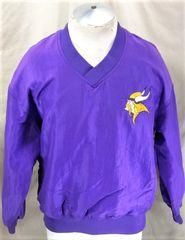 Vintage 90 s Starter Minnesota Vikings (Large) Retro Pullover NFL Football  Nylon Jacket f4e6e8020