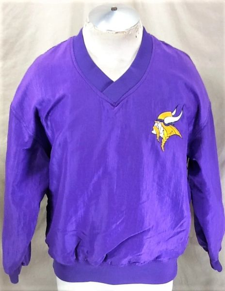 new product e54d8 698a3 Vintage 90's Starter Minnesota Vikings (Large) Retro Pullover NFL Football  Nylon Jacket