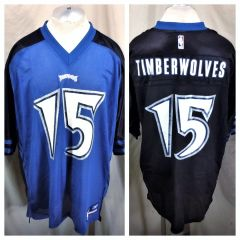 2003 Reebok Minnesota Timberwolves  15 (XL Long) Retro Graphic NBA Football  Style Jersey c78b7309d