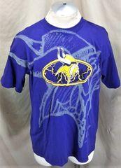 Vintage 90 s Zubaz Minnesota Vikings Football (Large) Retro NFL Graphic T- Shirt Purple c1a816c3f