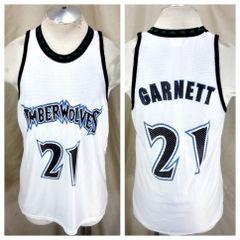 5381358b6 Vintage Minnesota Timberwolves Kevin Garnett  21 (Large) Retro NBA  Basketball Jersey