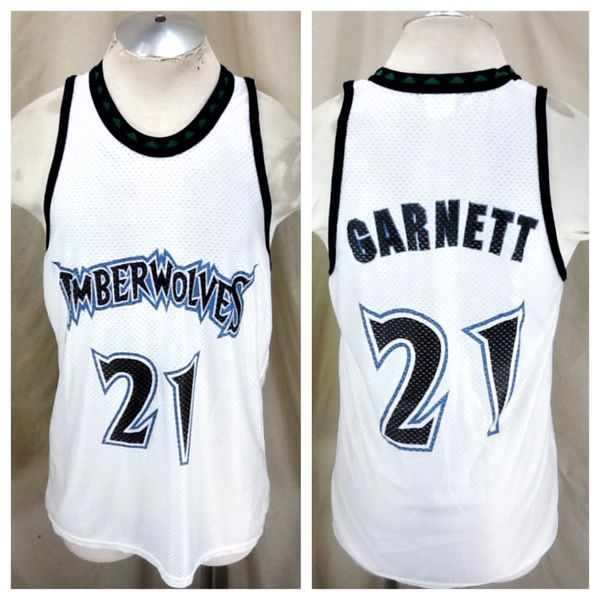 56028639689 Vintage Minnesota Timberwolves Kevin Garnett #21 (Large) Retro Wolves NBA  Basketball Jersey | Our City Vintage