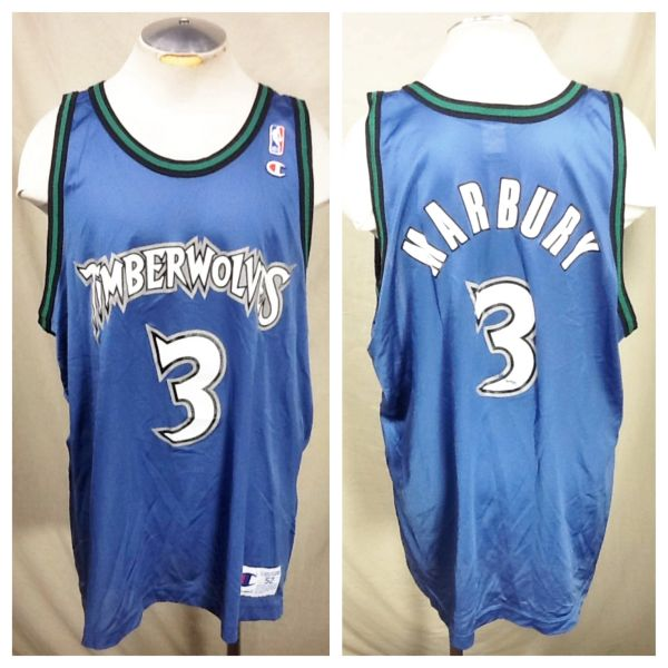 4d28ec1c00a ... promo code for vintage champion stephon marbury minnesota timberwolves  48 xl retro nba basketball jersey 94184