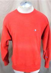 b6100a77f Vintage 90's Champion Reverse Weave (Large) Retro Knit Crew Neck Sweatshirt  Red