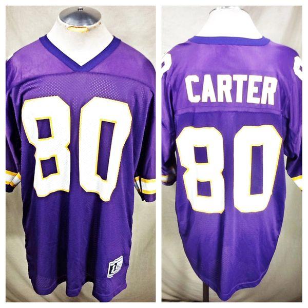 the best attitude a27cb e9afb Vintage Starter Cris Carter #80 Minnesota Vikings (52/XL) NFL Football  Jersey
