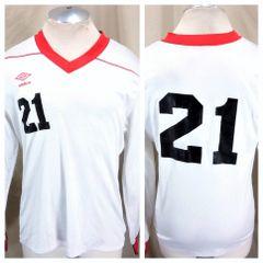 26d35c9272d Vintage 90's Umbro Futbol Team #21 (Med/Large) Retro Pullover Graphic Soccer