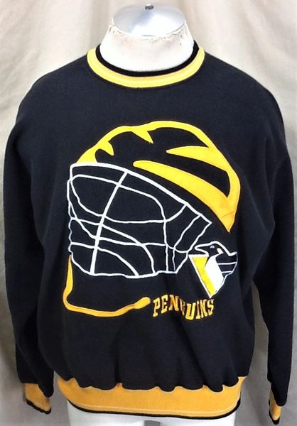 0289141a4 Vintage 90 s Pittsburgh Penguins Hockey Club (XL) Retro NHL Crew Neck  Sweatshirt
