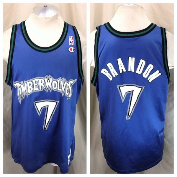 05bfcdd8a9f Vintage Champion Minnesota Timberwolves (48/XL) Terrell Brandon #7 Retro  NBA Wolves Jersey | Our City Vintage