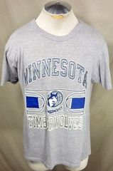 Vintage Champion Minnesota Timberwolves (Large) Retro NBA Basketball Graphic  T-Shirt 893698505