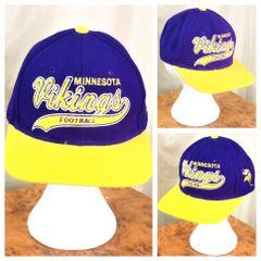 2ded85544 Vintage 90 s Starter Minnesota Vikings NFL Football Graphic Snap Back Hat  Purple