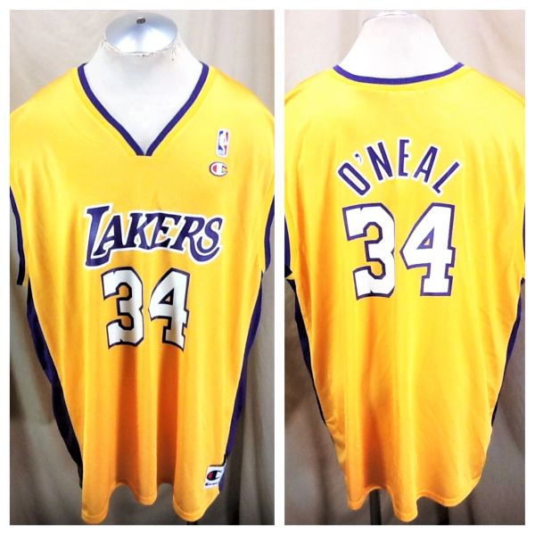 3cba94543813 Vintage Champion Shaquille O Neal  34 (54 2XL) Los Angeles Lakers Graphic  NBA Jersey