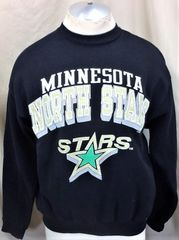 999dd74ca Vintage 1991 Logo 7 Minnesota North Stars (Large) Retro NHL Hockey Crew Neck  Graphic