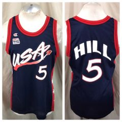 f299722f1 Vintage 90 s Champion Dream Team USA (Large) Grant Hill  5 Olympic Basketball  Jersey