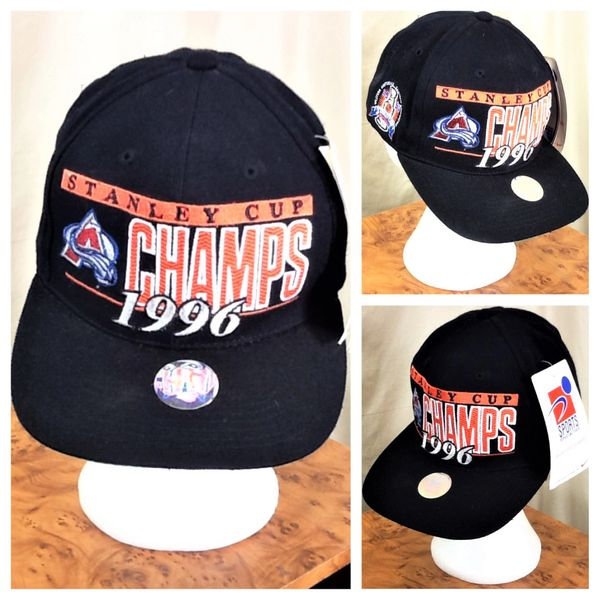 cd214c2c324 Vintage 1996 Colorado Avalanche Stanley Cup Champs NHL Hockey Snap Back Hat