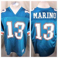 a72cd2fe75f Vintage 90's Dan Marino #13 (Large) Miami Dolphins Football Jersey Aqua  Green