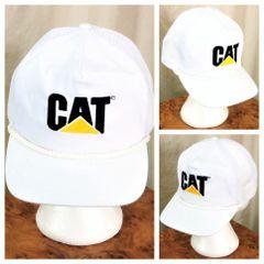 9b7a68e4ccc Vintage 90's Caterpillar Heavy Farm Equipment Retro Graphic Snap Back Trucker  Hat