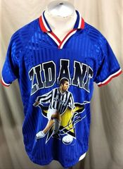 Vintage 1998 Zinedine Zidane France National (Medium) Retro Graphic Futbol  Jersey 15ad4cdf0