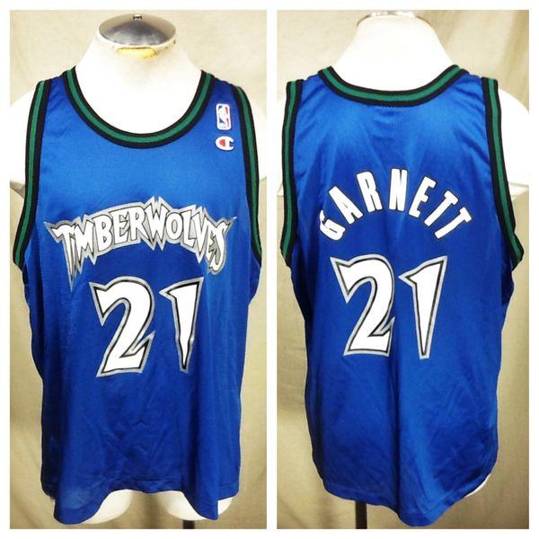 cb464be6be2 Vintage Champion Kevin Garnett Minnesota Timberwolves (XL) NBA Basketball  Jersey