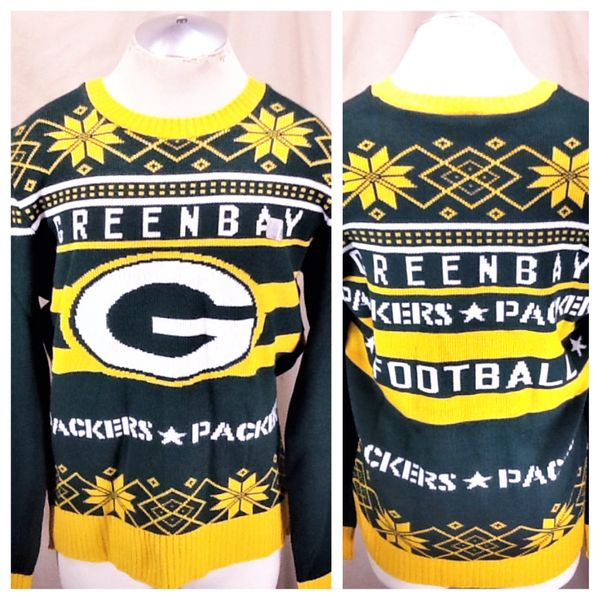 Junk Food Green Bay Packers Ugly Christmas Sweater Xl Knit