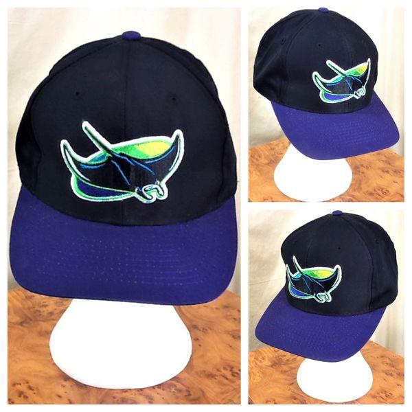 92715ca0b32 Vintage 90 s Tampa Bay Devil Rays MLB Baseball Retro Graphic Snap Back Hat  Black