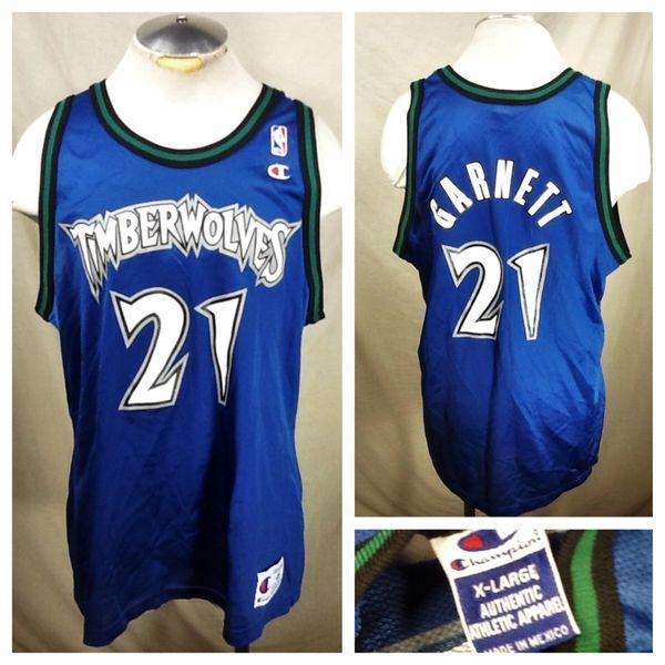 9480be92b9a Vintage Champion Kevin Garnett Minnesota Timberwolves (XL) Graphic NBA  Basketball Jersey
