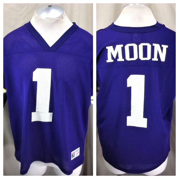 ac284174ca6 Vintage 90's Logo 7 Warren Moon #1 (Large) Minnesota Vikings NFL Football  Jersey | Our City Vintage