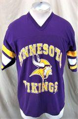 Vintage 1992 Logo 7 Minnesota Vikings (Large) Retro Graphic NFL Football T- Shirt 8b668513a
