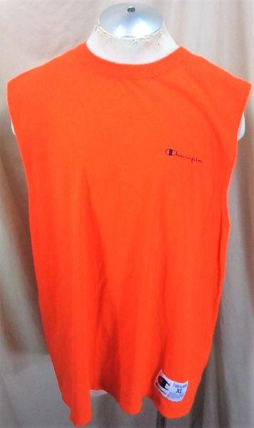 5ea23af48 Vintage 90's Champion Athletic Wear (XL) Retro Pullover Tank Top Shirt  Orange   Our City Vintage