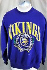70307a7fa Vintage 1993 Nutmeg Minnesota Vikings NFL (XL) Retro NFL Crew Neck  Sweatshirt